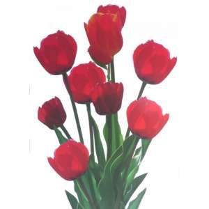Grand stickers Tulipe