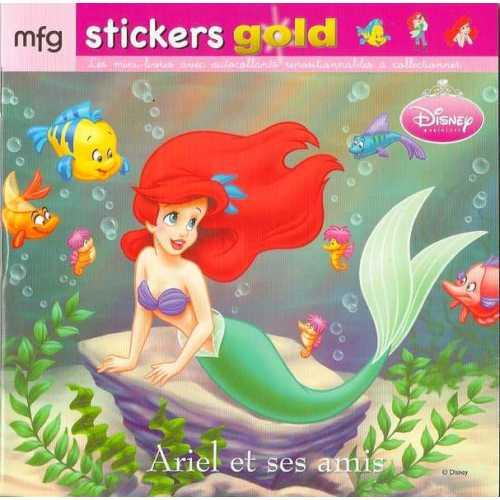 Stickers Gold Ariel et ses amis