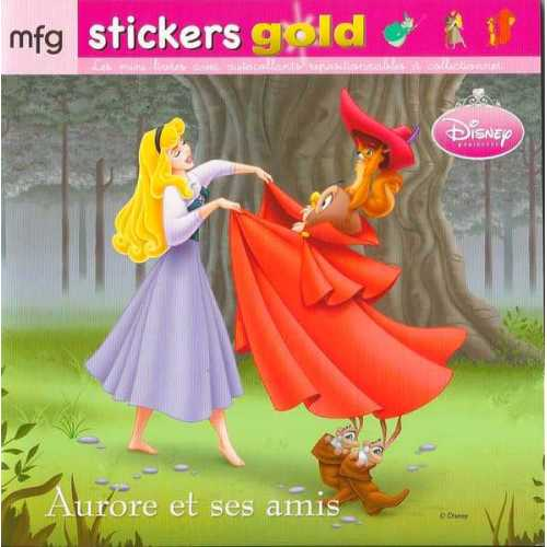 Stickers Gold Aurore et ses amis