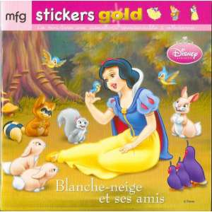 Stickers Gold Blanche Neige et ses amis