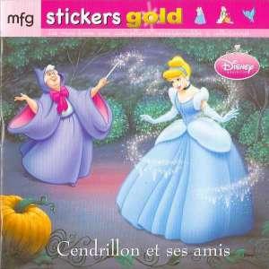 Stickers Gold Cendrillon et ses amis