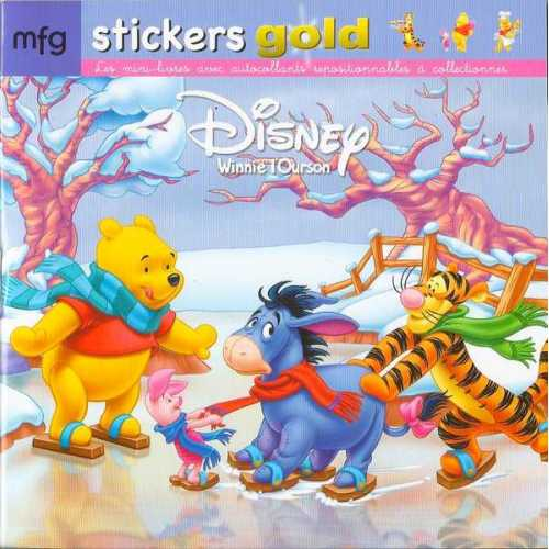 Stickers Gold Winnie l'Ourson