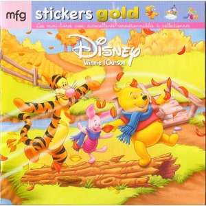 Stickers Gold Winnie l'Ourson