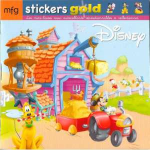 Stickers Gold Mickey et ses amis