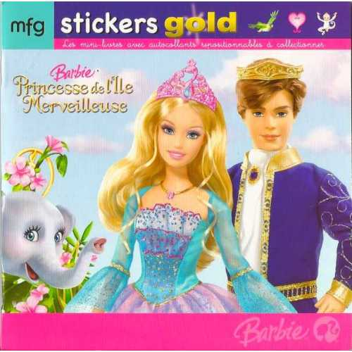 Stickers Gold Barbie Princesse de l'Ile Merveilleuses
