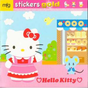 Stickers Gold Hello Kitty