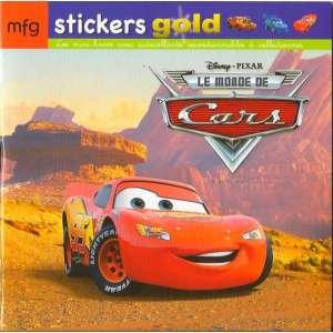 Stickers Gold Le Monde de Cars
