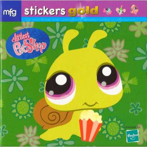 Stickers Gold Littlest PetShop