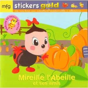 Stickers Gold Drôles de Petites Bêtes Mireille l'Abeille et ses amis