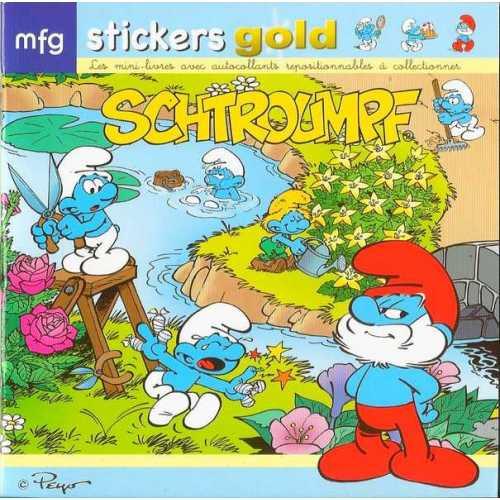 Stickers Gold Les Schtroumpf