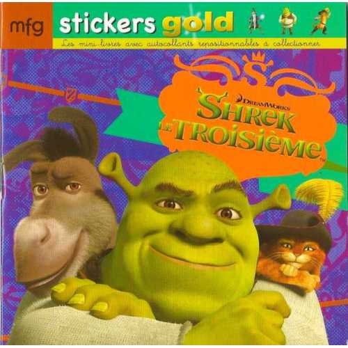 Stickers Gold Shrek Le Troisième