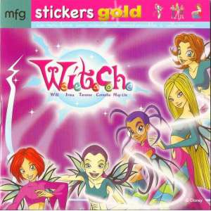 Stickers Gold Witch