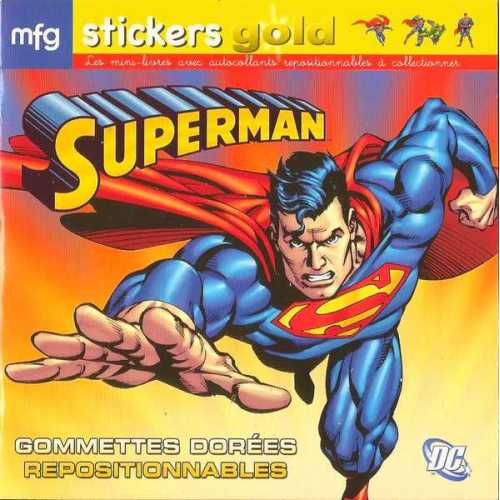Stickers Gold Superman