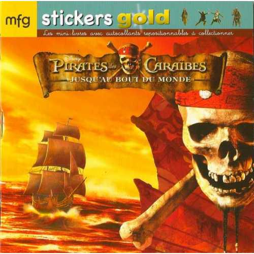 Stickers Gold Pirates des Caraïbes Jusqu'au bout du monde