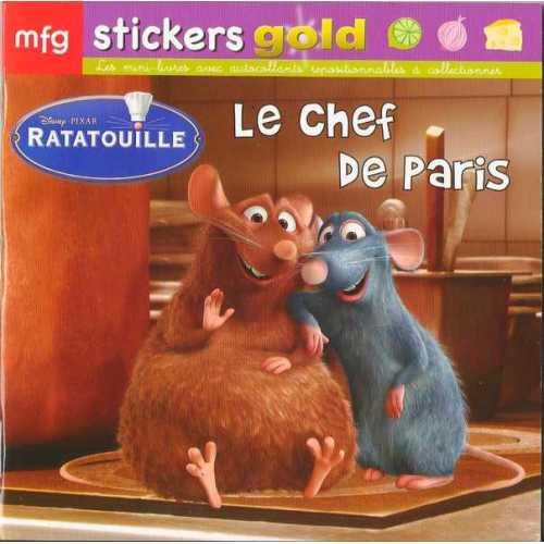 Stickers Gold Ratatouille Le chef de Paris