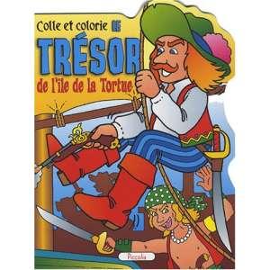 COLLE ET COLORIE : LE TRESOR DE L'îLE DE LA TORTUE