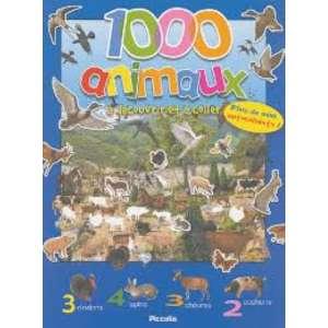 1000 ANIMAUX à découvrire et à coller