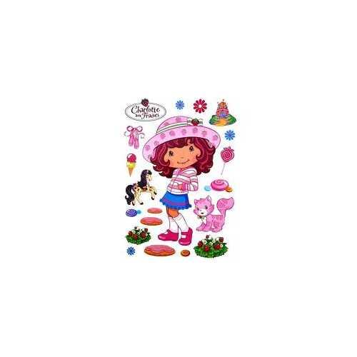 Grand stickers enfant CHARLOTTE AUX FRAISES