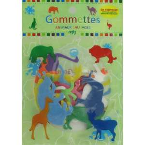 Gommettes Feutrine Animaux Sauvages