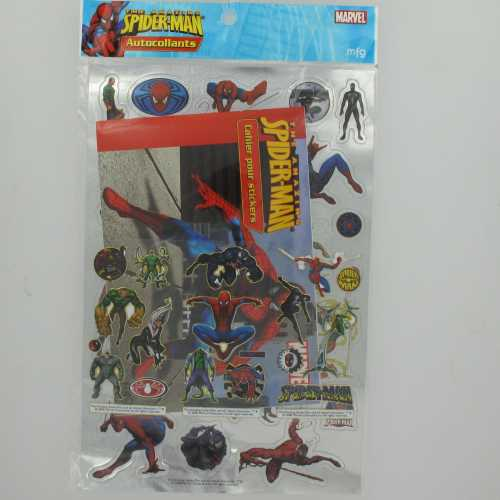 Spider-Man Amazing Pack Stickers Gold & Silver + cahier N°1