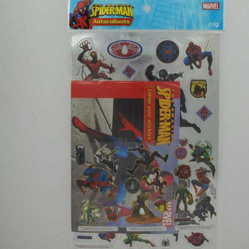 Spider-Man Amazing Pack Stickers Gold & Silver + cahier N°4