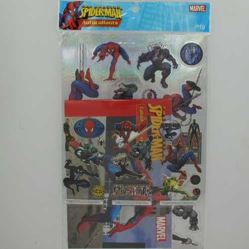 Spider-Man Amazing Pack Stickers Gold & Silver + cahier N°2