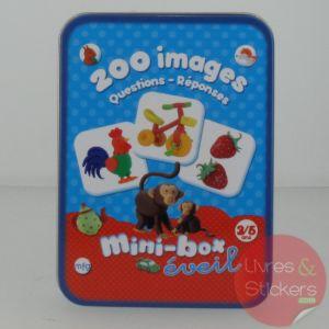 Mini-box éveil : 200 images questions/réponses