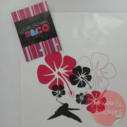 Sticker by D&CO - Hibiscus Et Oiseau