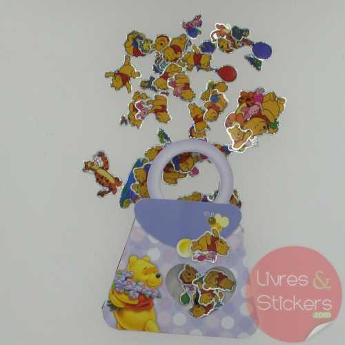 Stickers winnie petit sac violet