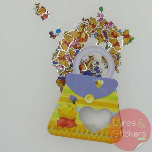 Stickers winnie petit sac jaune