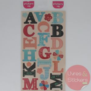Stickers alphabet majuscule 1