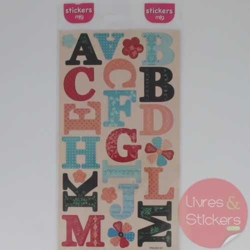 Stickers alphabet majuscule 1