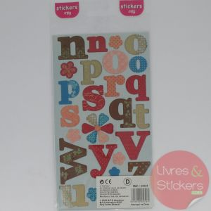 Stickers alphabet minuscule 1