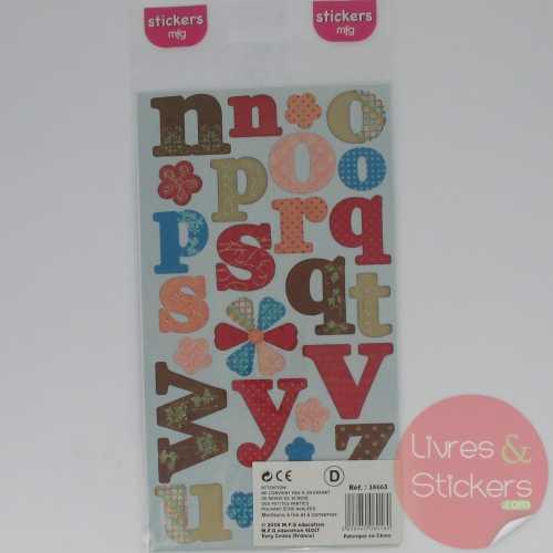 Stickers alphabet minuscule 1