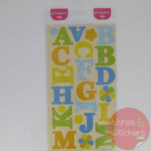 Stickers alphabet majuscule 2