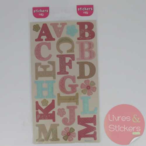 Stickers alphabet majuscule 4