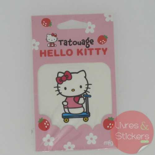 Tatouage Hello Kitty trotinette