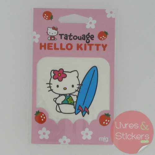 Tatouage Hello Kitty surf