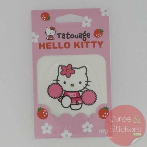 Tatouage Hello Kitty pom-pom girl
