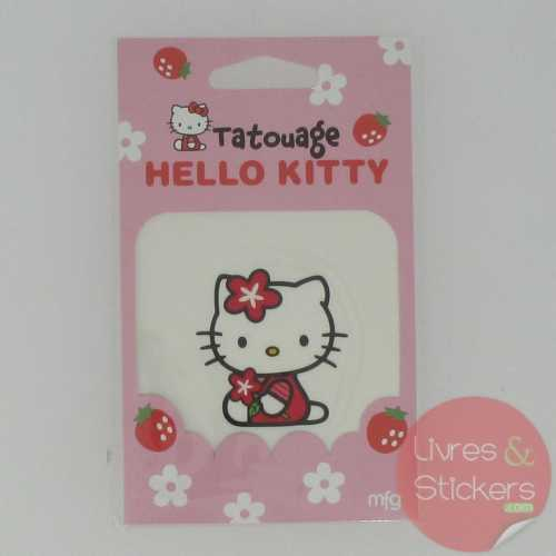 Tatouage Hello Kitty fleur