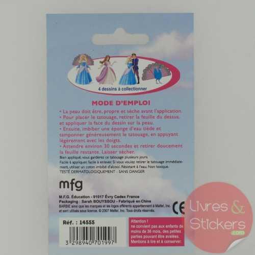 Tatouage Barbie Princesse de l'ile Merveilleuse 2/4
