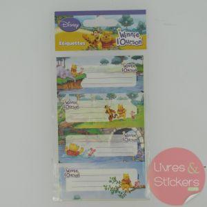 Etiquettes Disney Winnie l'Ourson