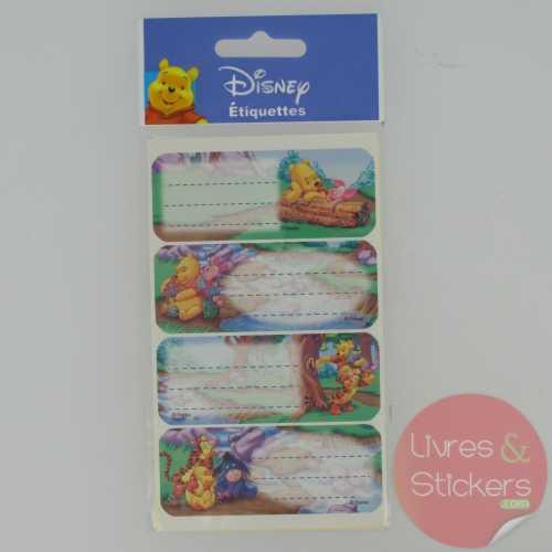 Etiquettes Disney Winnie l'Ourson 3/3