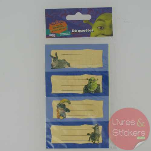 Etiquettes Shrek le troisième 1/2