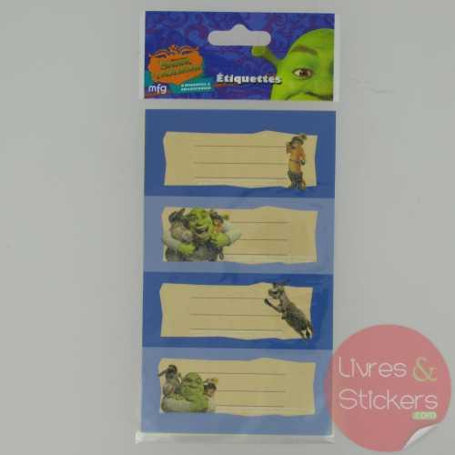 Etiquettes Shrek le troisième 2/2