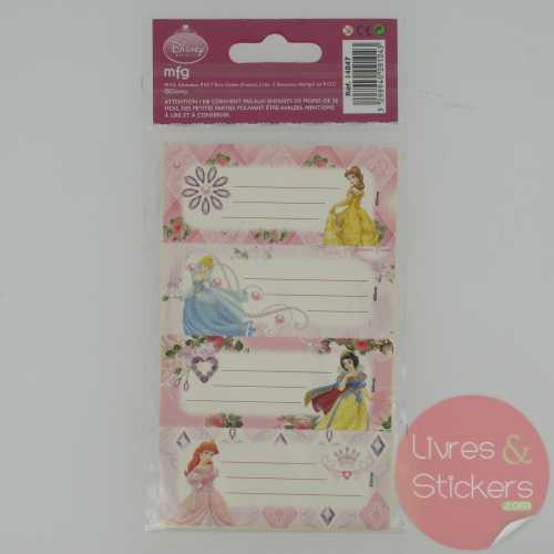 Etiquettes Disney Princesse