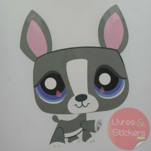 Grand sticker Déco Petshop Chien