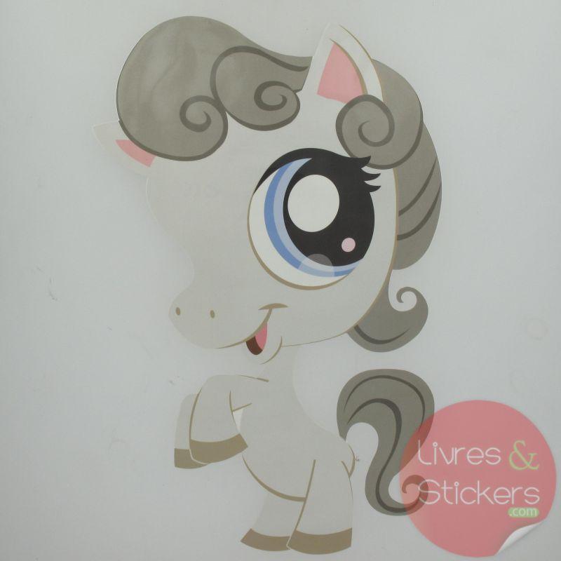 Grand sticker d co petshop cheval - Cheval petshop ...