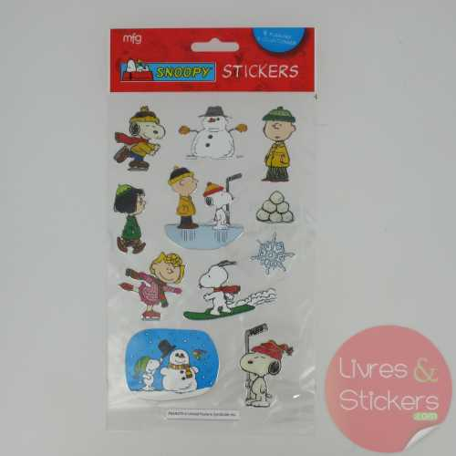 Stickers Silver Snoopy 3/4