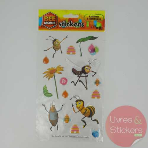 Stickers Silver Bee Movie 3/4